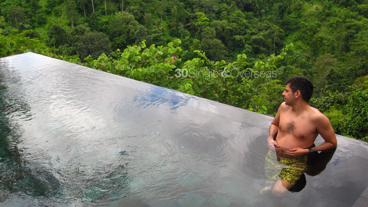 Our private infinity pool at Ubud Hanging Gardens