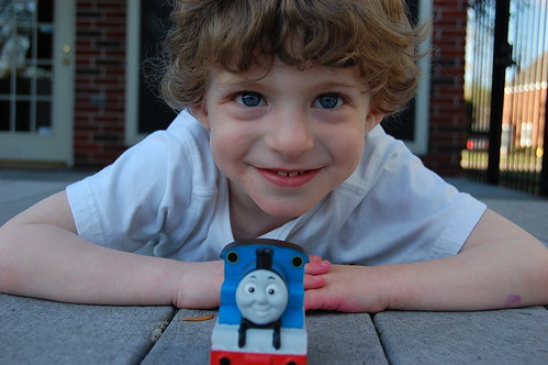 Benjamin and Thomas the Tank Engine March 2010