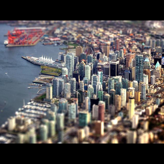 I used my mad scientist ultrahyper shrink ray on Vancouver - Mwahahahahaha!!