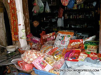 A village provision shop
