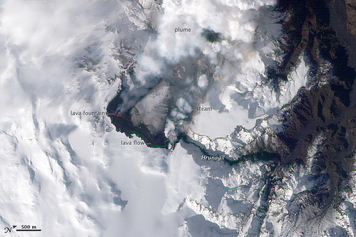 Eruption of Eyjafjallajökull Volcano, Iceland by NASA Goddard Photo and Video.