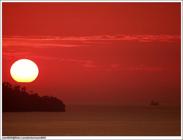 Matahari petang..