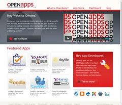 OpenApps at DemoCamp 26: Easy Functional Extensions of Your Website