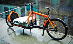 Orange Clockwork Courier Bike - Ottawa 03 10 (Mikey G Ottawa) Tags: street ontario canada bike bicycle ottawa transport cargo delivery messenger courier bullitt cargobike courierbike bikecourier mikeygottawa