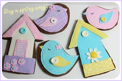 Spring bird cookies (Mavin kurve (Kassie73)) Tags: bird cookies easter spring chocolate applique