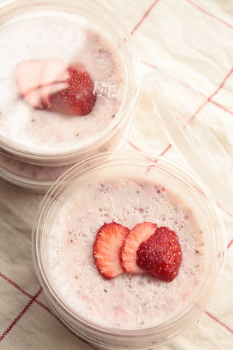 strawberry milk pudding