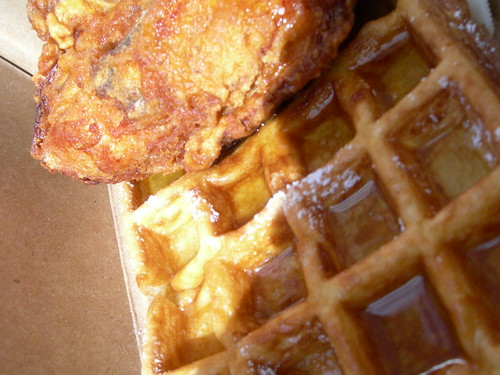 best fried chicken, chicken and waffles at Little Skillet, SOMA, SF