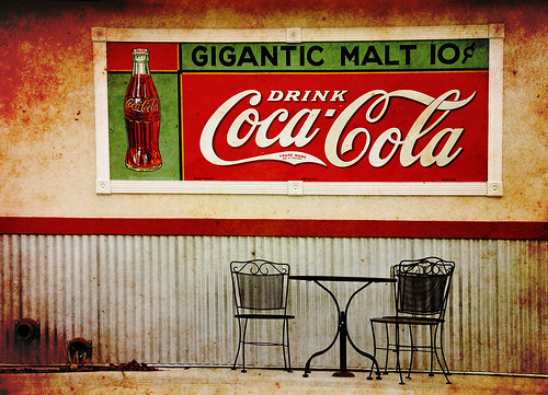 Gigantic coke malt sign texture