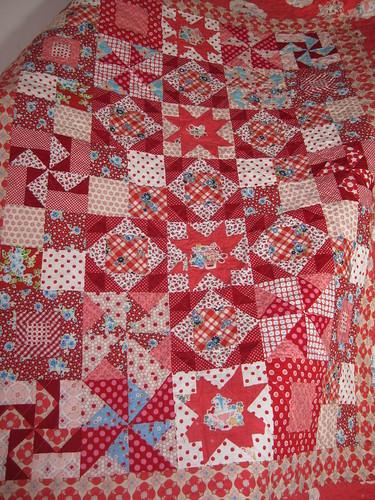 gramas garden quilt, more details