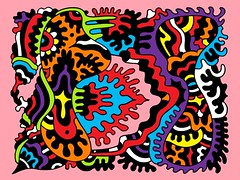 Doodle 1/3/2010 (Daily Doodles) Tags: pink blue red orange abstract art colors modern illustration pen ink painting poster graffiti design sketch rainbow artwork 60s colorful folkart outsiderart purple bright drawing mixedmedia abstractart contemporaryart contemporary vibrant modernart surrealism violet indigo vivid doodle zen 70s surrealist meditation sharpie psychedelic linedrawing surrealart artprint blueart pinkart colorfulart purpleart dailydoodles surrealistart yellowart zentangle doodledrawing