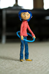 8/365 Coraline Hula Hooping (BarbaraCZ) Tags: doll canonrebelxt hulahoop coraline oneobject365daysproject 365toyproject april810