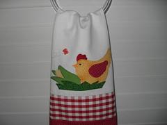 Pano de Prato (dinorahramos) Tags: galinha pano tecidos appliqué botões patchcolagem panodeprato portapanoprato