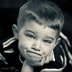 ***My Boy*** (Rebecca812) Tags: light boy portrait blackandwhite funnyface cute beautiful closeup children eyes child sweet c naturallight monotone opie leaveittobeaver theunforgettablepictures artofimages canon5dmarkii bestportraitsaoi retro1950 familygetty2010