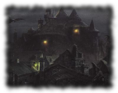 The Village Of Wintershard at night