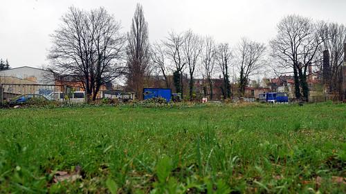 Das Florana-Projekt auf der Bautzner. Jetzt frei von Bäumen.