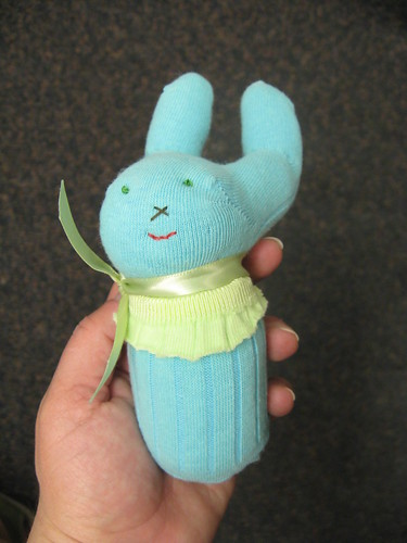 Sock bunny by Katy Did.