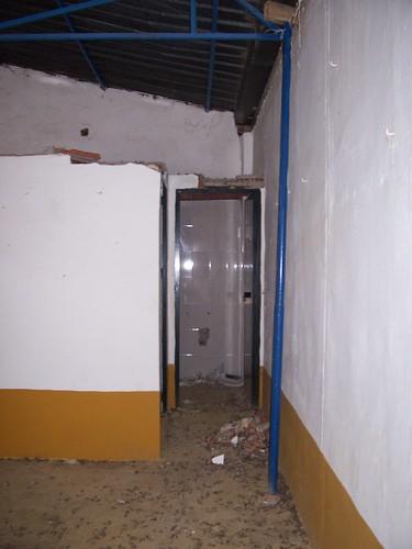 Destrozos en el recinto ferial