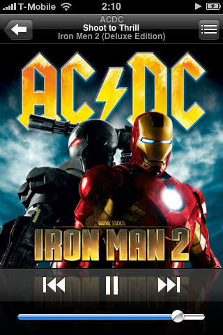 Iron Man 2 soundtrack iTunes