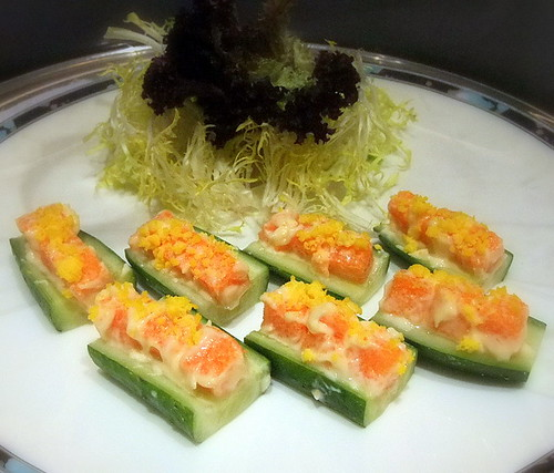 Salmon on Cucumber