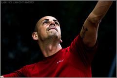 battuta (rittratto) (Lella Leone Photo) Tags: boy red portrait man face sport action tennis tatoo battuta lellaleone80 leonemariantonella