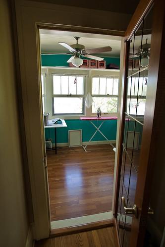 sewing studio door