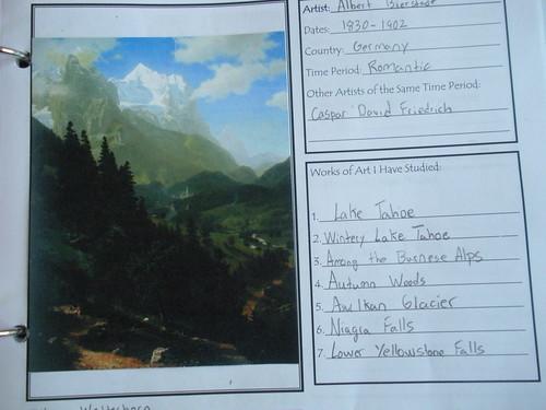Artist Notebook Page Bierstadt