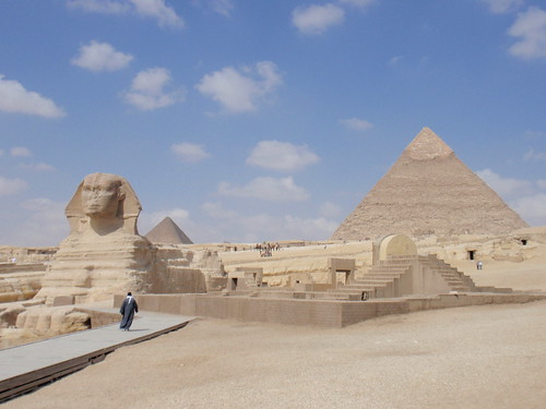 The Sphinx and the Pyramid of Khafre