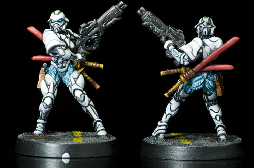 I love these anime-inspired miniatures from the game Infinity.