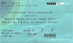 Darts 2010 (tcbuzz) Tags: park tickets scotland football phil glasgow ticket taylor secc rangers darts kilmarnock hampden
