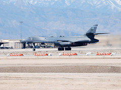 B1B Lancer takes off at Nellis Air Force Base (lead230) Tags: texas eagle aircraft jets jet landing raptor f22 airforce lancer langley f15 airforcebase nellis dyess b1b