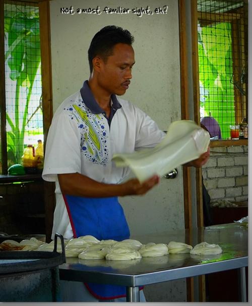 Flipping a Roti Canai