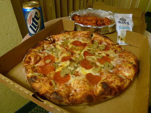 Pizza, Buffalo Wings, and Miller Lite
