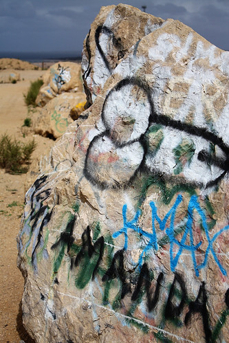 Ardrossan quarry lookout graffiti