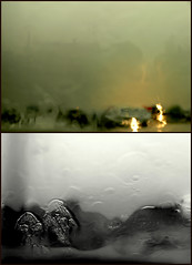 l'impossibile non c'. (occhi di lisa) Tags: street city blackandwhite cars water rain dark nikon grigio d70 cielo pioggia perugia impossible vetro traffico annalisa dittico occhidilisa