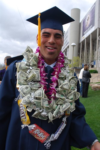 What graduate wouldn't love a money lei!?