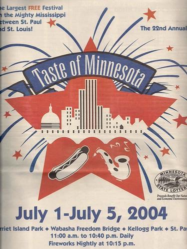 2004 Taste of MN Festival Program