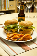 Burgers and Yam Fries