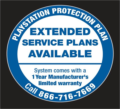 PlayStation Protection Plan Sticker