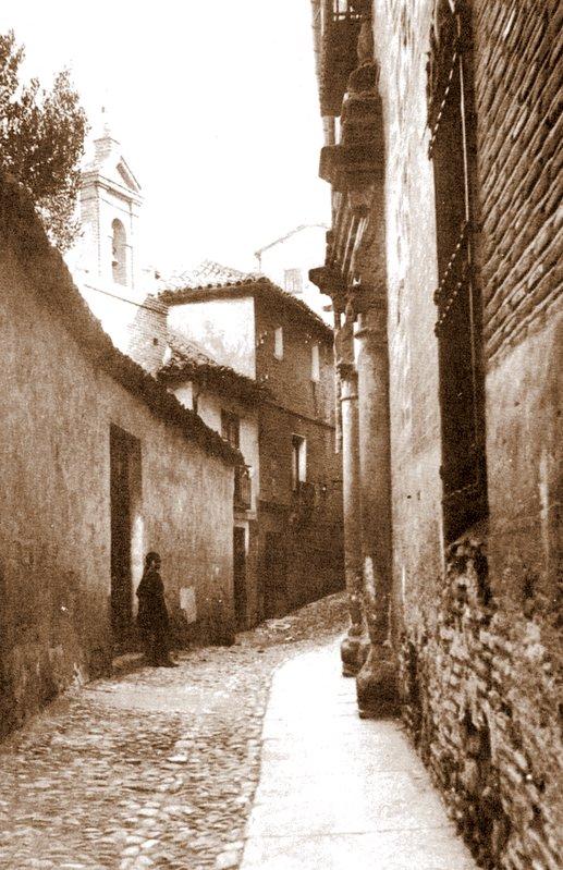 Calle de San Ildefonso hacia 1914. Fotografía de Pedro Román Martínez
