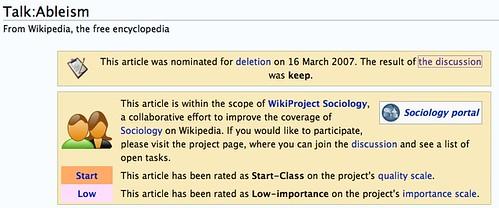 Screenshot: This article has been rated as Low-importance  on the project's importance scale.