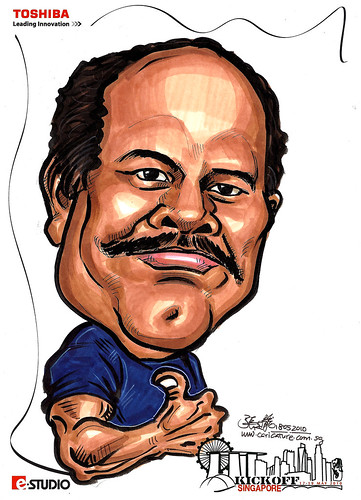 Caricature of Ramamurthy