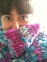 Shetland scarf is finished