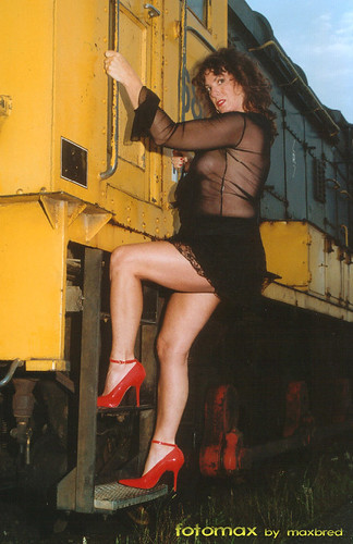hot in public flashing nudity pics: sheer, engine, legs, yellow, sexy, publicnudity, transparent, loc, hot, highheels, pumps, red, train