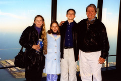 2001 - Deb, Christina (11), Will (16), and Terry at the Chicago Sears Tower.