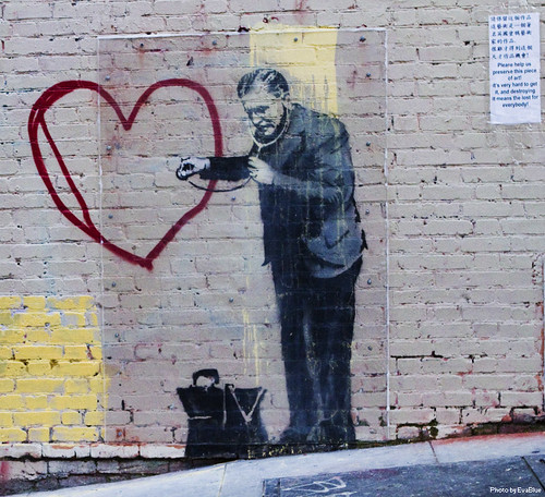 banksy - peaceful hearts doctor - 3 by Eva Blue, on Flickr