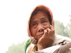 Old lady on the boat from Nong Khiaw to Muang Ngoi Neua