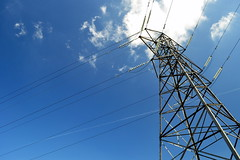 The Sockets Of Electric Dreams (HaHa UK) Tags: blue sky london electric delete10 architecture clouds delete9 delete5 grid delete2 power delete6 delete7 delete8 delete3 delete delete4 structure line pylon wires electricity powerline croydon deletedbydeletemeuncensored bonusdeleten00bmcguiretaggedtwice