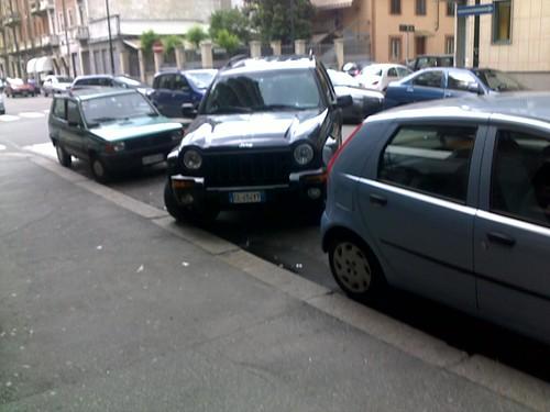 Suv-parcheggio