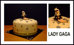 Lady Gaga cake (semivi) Tags: woman black girl monster cake lady silver fame gaga semivi