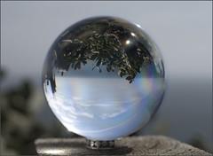 Boleta @ Far de Sant Sebasti (vdbdc) Tags: costa glass ball de mar down sphere refraction physics catalunya bola sant brava far upside vidrio fisica emporda esfera tamariu mediterrani vidre sebastia refraccion refraccio